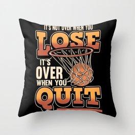Funny Basketball Ball Sport Saying Gift Throw Pillow