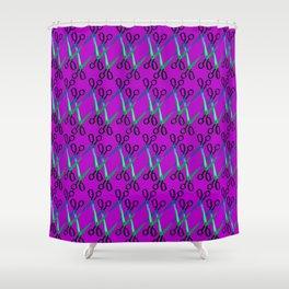 Shears Pattern Shower Curtain