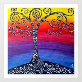 Growing Zenful tree Art Print