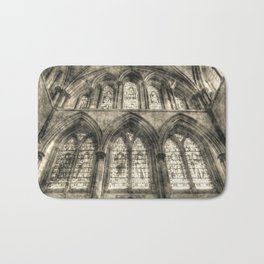 Rochester Cathedral Stained Glass Windows Vintage Bath Mat