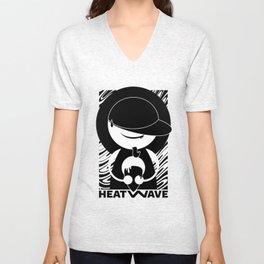 HEATWAVE BLACK Unisex V-Neck