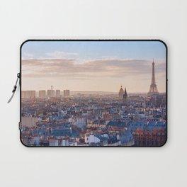 Paris skyline with eiffel tower at sunset Laptop Sleeve