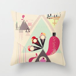 Icecream Volcano Throw Pillow