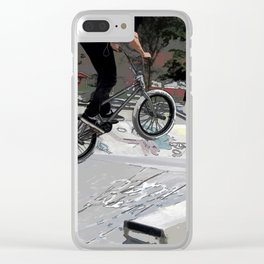 """Getting Air"" - BMX Rider Clear iPhone Case"