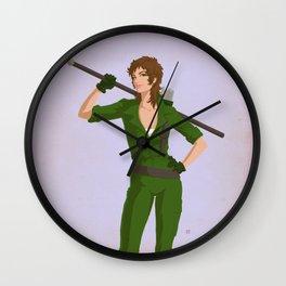Retro Lady Jaye Wall Clock