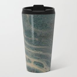 White Rivers, Acrylic Pour Travel Mug