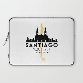 SANTIAGO DE CHILE SILHOUETTE SKYLINE MAP ART Laptop Sleeve