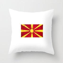 Macedonia Flag design   Macedonian design Throw Pillow