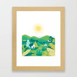 Landscape village Framed Art Print
