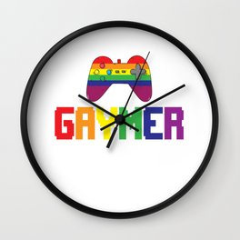 Gay Gamer Gaymer Gaming Pride Gift Wall Clock