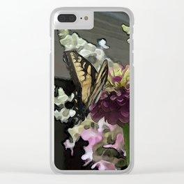 Butterfly Garden 1 Clear iPhone Case