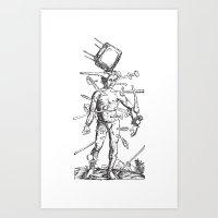 Wound Man Art Print