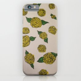 Falling Roses (yellow) iPhone Case