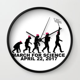 March For Science (Man) Wall Clock