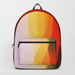 Warm Retro Abstract Backpack