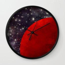 Mars In The Stars Wall Clock