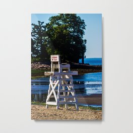 Life guard off duty - enjoy the beach Metal Print