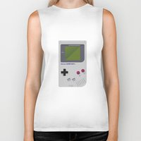gameboy Biker Tanks featuring Gameboy by Ira Shepel