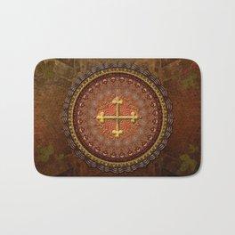 Mandala Armenian Cross Bath Mat