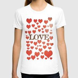 Love Heart Valentines Design  T-shirt