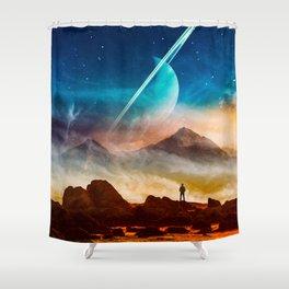Forsaken Planet Shower Curtain