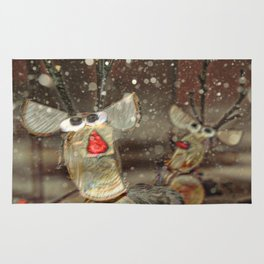 Rudolph The Red Nosed Reindeer and friend Rug