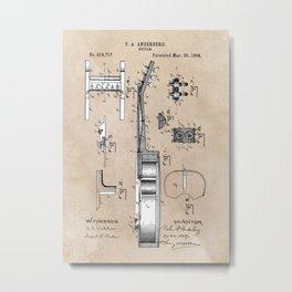 patent art Anderberg 1894 Guitar Metal Print
