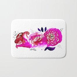 Three Purple Christchurch Roses Bath Mat