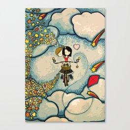 Love on a Bike Canvas Print