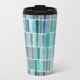 Watercolor Green Swatches Travel Mug
