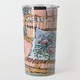 Cane Chair After David Hockney Travel Mug