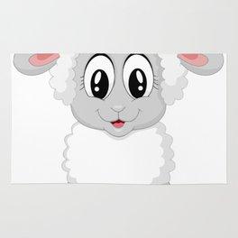 Cute Lamb Sheep Rug