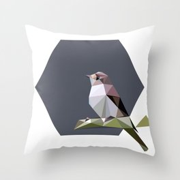 Spotted flycatcher Throw Pillow
