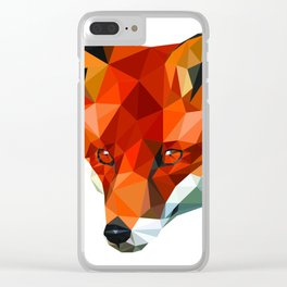 Lowpoly Fox Clear iPhone Case
