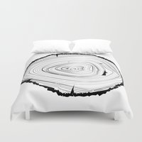 tree rings Duvet Covers featuring Tree Rings by brittcorry