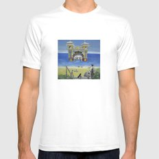luna park beach White MEDIUM Mens Fitted Tee