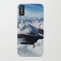low poly iPhone & iPod Cases featuring low poly mountains by tony tudor