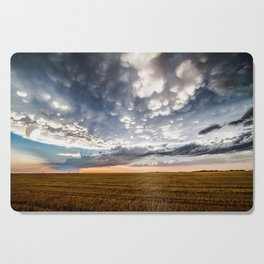 After the Storm - Spacious Sky Over Field in West Texas Cutting Board