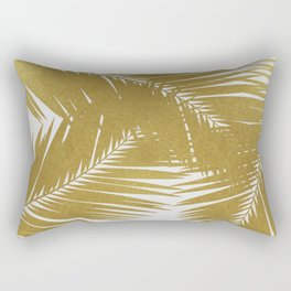 Palm Leaf Gold III Rectangular Pillow