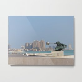 Katara Amphitheatre, Doha, Qatar Metal Print