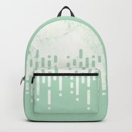 Marble and Geometric Diamond Drips, in Mint Backpack