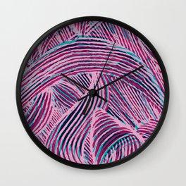 Curly lines II Wall Clock