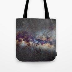 The Milky Way: from Scorpio, Antares and Sagitarius to Scutum and Cygnus Tote Bag