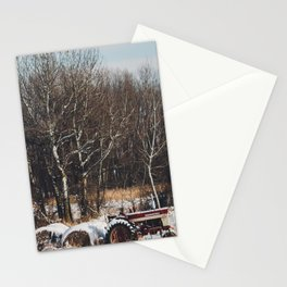 The Tractor and the Snow Stationery Cards