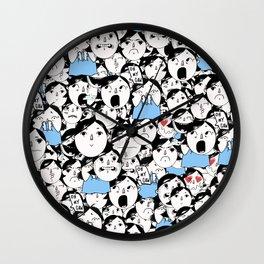Bobbies Unite Wall Clock