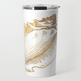 Gold Conch Shell Travel Mug