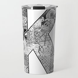 Cutout Letter K Travel Mug