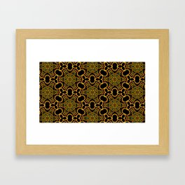 Yellow/Gold/Black Pattern Framed Art Print