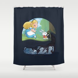 Alice in Troubleland Shower Curtain