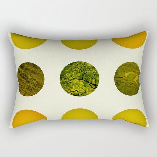 Earth Dot Pattern Rectangular Pillow